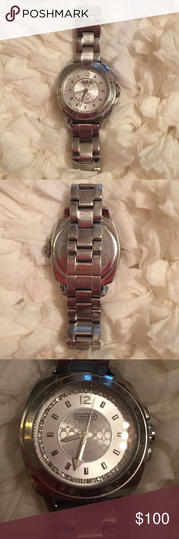 Coach boyfriend watch Coach boyfriend silver boyfriend watch. This is a great watch! Coach Accessories Watches