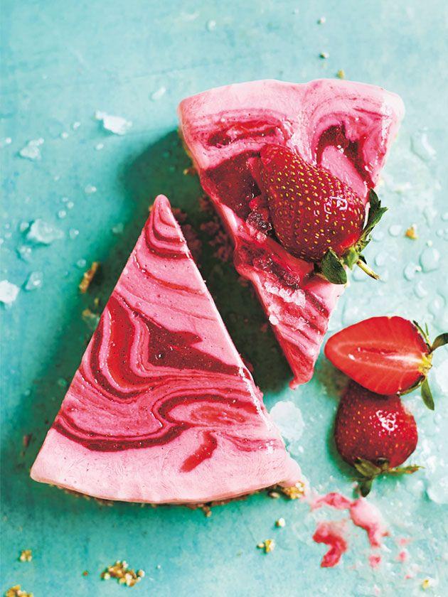Strawberry Ripple Yoghurt Cake | Donna Hay