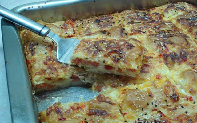 Πίτσα με φύλλο κρούστας !!! Απίθανη !! ~ ΜΑΓΕΙΡΙΚΗ ΚΑΙ ΣΥΝΤΑΓΕΣ
