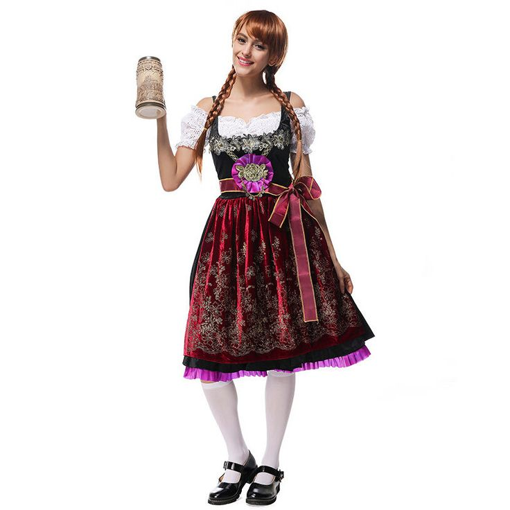 New Ladies German Bavarian Oktoberfest Beer Maid Fancy Dress Costume Lederhosen #Unbranded #CompleteOutfit #HalloweenParty