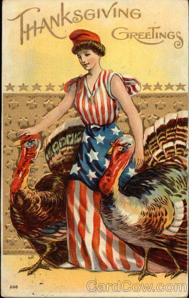 Thanksgiving Greetings Turkeys