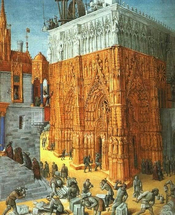 Жан Фуке: fouquet4 denisforkas:    Jean Fouquet - Building of the Temple of Jerusalem. 1470-75