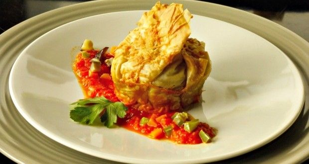 σπινταριστά τραγανά πουγκιά γεμιστά με λαχανικά - Pandespani.com