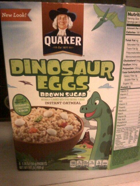 Dinosaur egg oatmeal. Amazing!