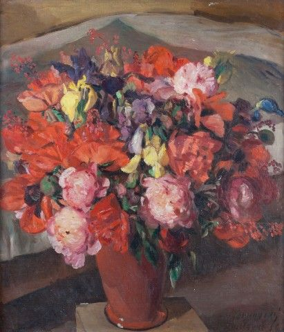 Obrovský Jakub (1892–1949)   Kytice (Vojkovice), 1938   Aukce obrazů, starožitností   Aukční dům Sýpka