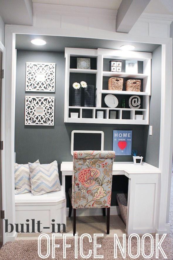 Best 25+ Office Nook Ideas On Pinterest   Desk Nook, Kitchen Office Nook  And Built In Desk