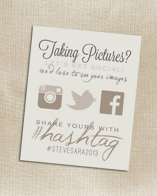 Redes socais no casamento - hashtag