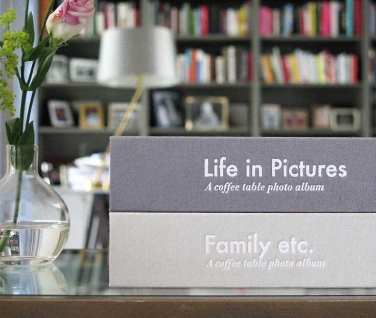 Don't hide your photo albums, let them be a part of your decoration