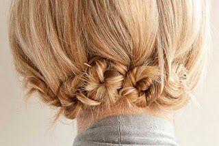 Twisty hair pinning tutorial.