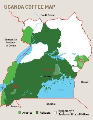 #coffee #map Map Uganda