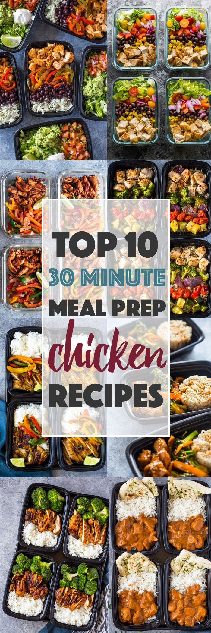 Top 10 (30 Minute) Meal-prep Chicken Recipes #healthy #mealprep #recipes #top #b…