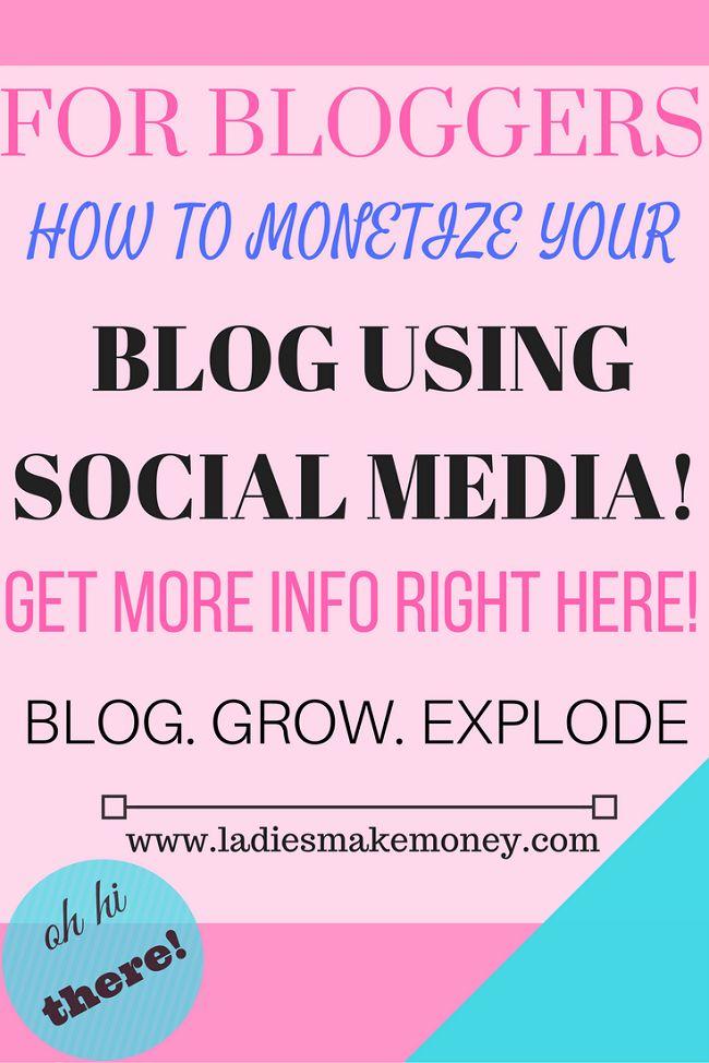 How to monetize your blog using social media as a platform