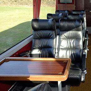 Smaller size group tours of Ireland - mini-bus interior