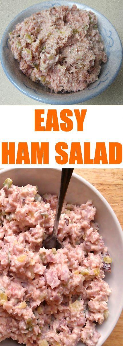 Easy Ham Salad #Salad #Easy Ham Salad