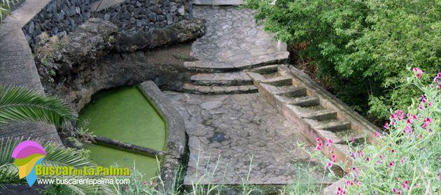 Los Lavaderos (Fuentiña) y la Fuente de San Juan, en  Puntallana