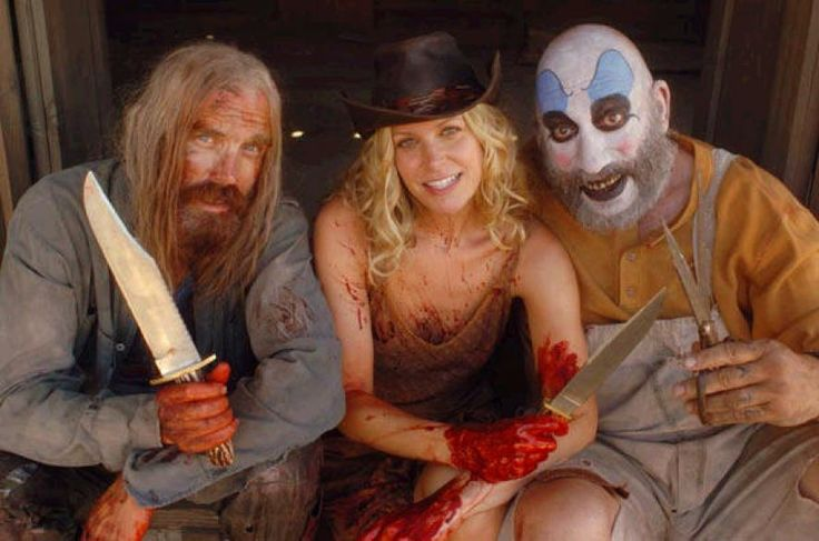 OTIS, BABY & CAPTAIN SPAULDING - Bill Moseley, Sheri Moon Zombie & Sid Haig (The Devil's Rejects, 2005)