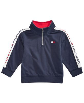 978a414690769 Baby Boys Cotton Half-Zip Sweatshirt | Products | Tommy hilfiger ...