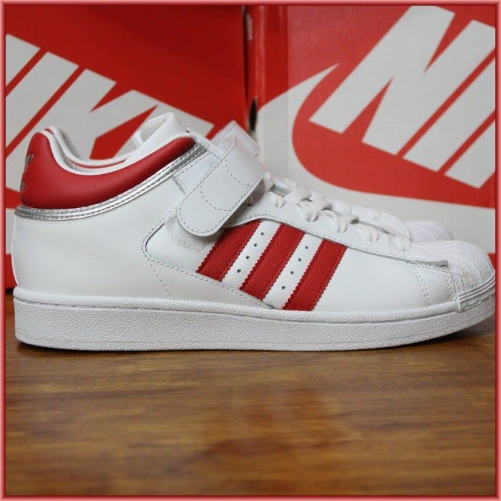 ADIDAS ORIGINALS PRO SHELL BY4384 FOOTWEAR WHITE//SCARLET RED//SILVER METALLIC