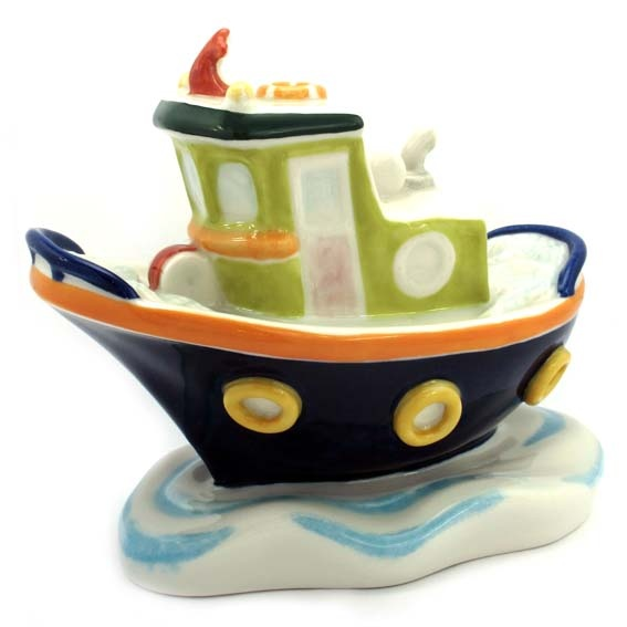 """Porcelain boat """"Galos"""". This item designed by Galos is made of porcelain: a noble millenarian material fired at 1300ºC .Skilful hands and traditional craftmanship accomplish this work of art decorated whit mineral pigments founded at 800º C. You´ve appreciated its value and Galos thanks you for choosing it. Tax free $104.90"""