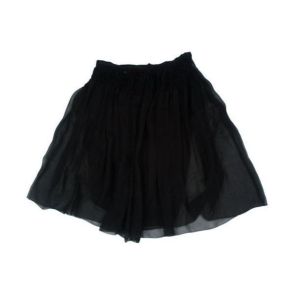 Струящаяся юбка из черного шелка ❤ liked on Polyvore featuring skirts, bottoms, saias, black, для нее, chanel and chanel skirt