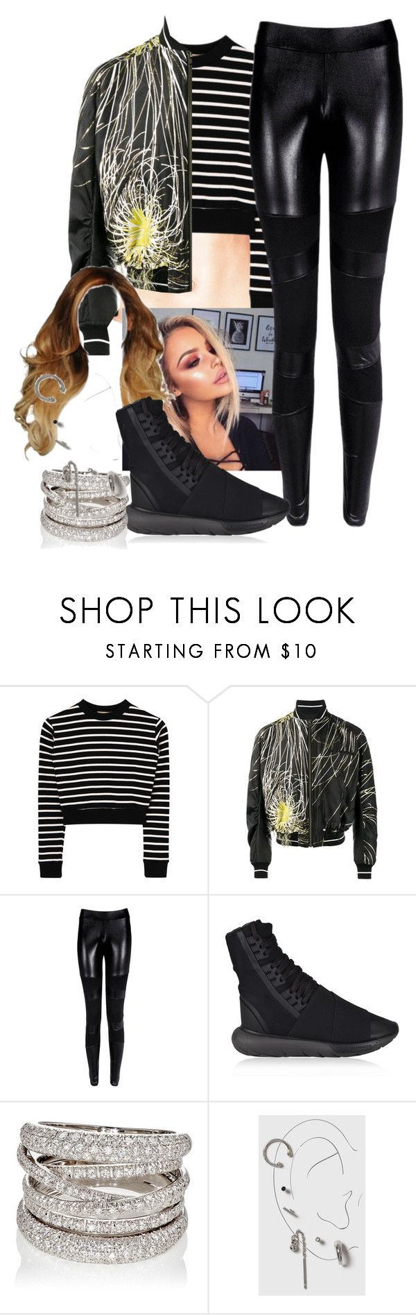"""""""Fem! Jimin"""" by elliepetkova ❤ liked on Polyvore featuring Haider Ackermann, Y-3, Sidney Garber, Topshop, Looks, performing, nottoday, bts and jimin"""