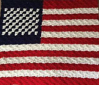4th of July C2C US Flag pattern by Deanne's Designs