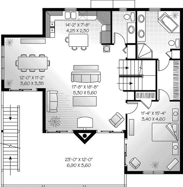Second Floor Plan of Coastal House Plan 65578. Find this Pin and more on Interior  Design Assignment ...