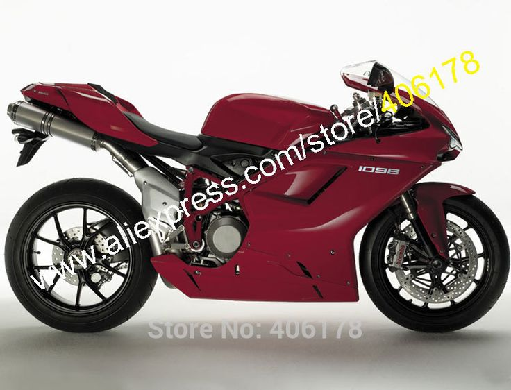 Hot Sales,Motorcycle Fairings For Ducati 848 1098 1198 Drak Red 2007 2008 2009 2010 2011 Sports Fairing set (Injection molding)