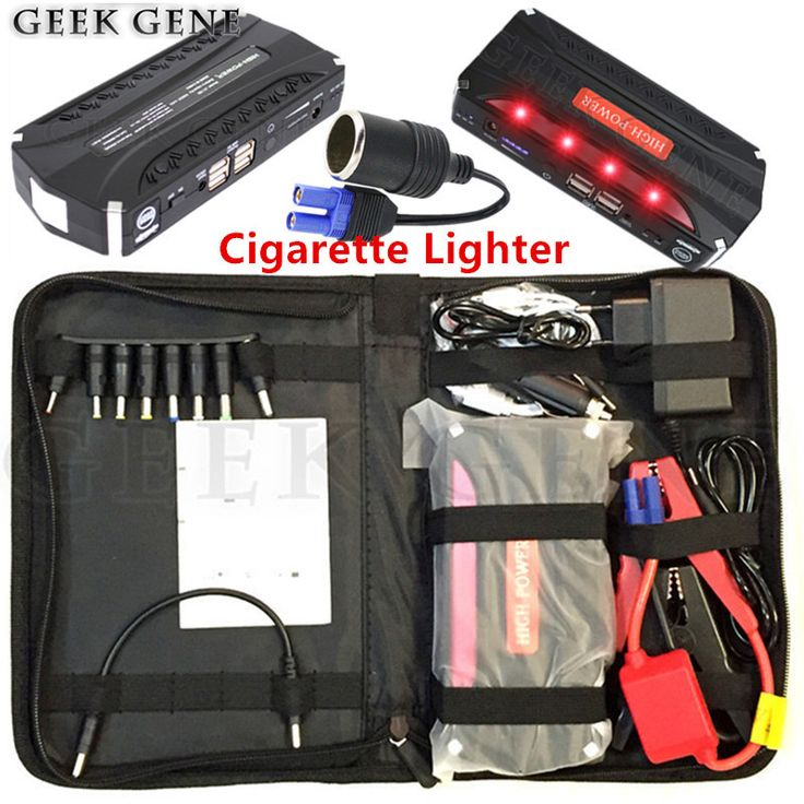check discount car jump starter 12v 600a portable lighter power bank car charger for car battery #led #warning #lights