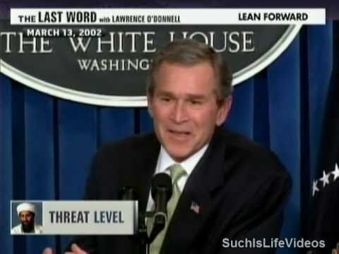 """George W. Bush: """"I Truly Am Not That Concerned About Osama Bin Laden"""" - YouTube"""