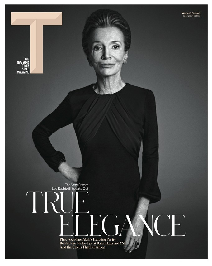 T Magazine Redesign. Lee radziwell