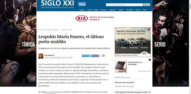 """ARTÍCULO """"LEOPOLDO MARÍA PANERO, EL ÚLTIMO POETA MALDITO""""."""