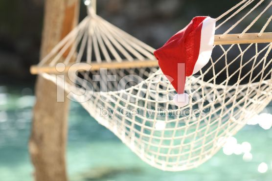 Hammock in a tropical beach on christmas holidays royalty-free stock photo