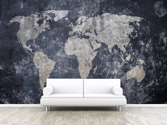 Vintage Old World Map Self Adhesive Peel And Stick 3d Photo Realistic Mural Wallpaper Wall Mural Removable Wall Wallpaper Earth W 51 Homesweet Elsewh