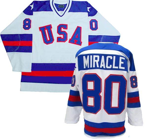 1980 Team Usa White Hockey Jersey Miracle 80 Custom Made Sports Jersey Team Usa Hockey Usa Hockey Hockey Jersey