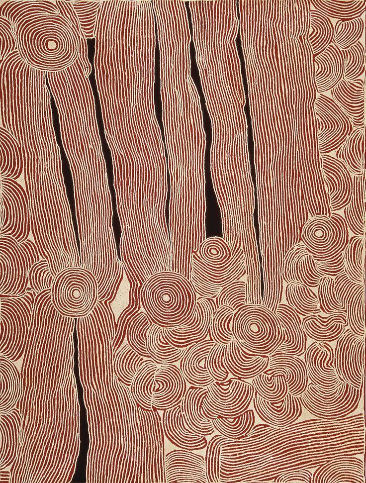 Ningura Napurrula - WOMAN'S BIRTH SITE AT THE ROCKHOLE SITE OF WIRRULNGA - Synthetic polymer paint on Belgien linen 244cm by 183cm