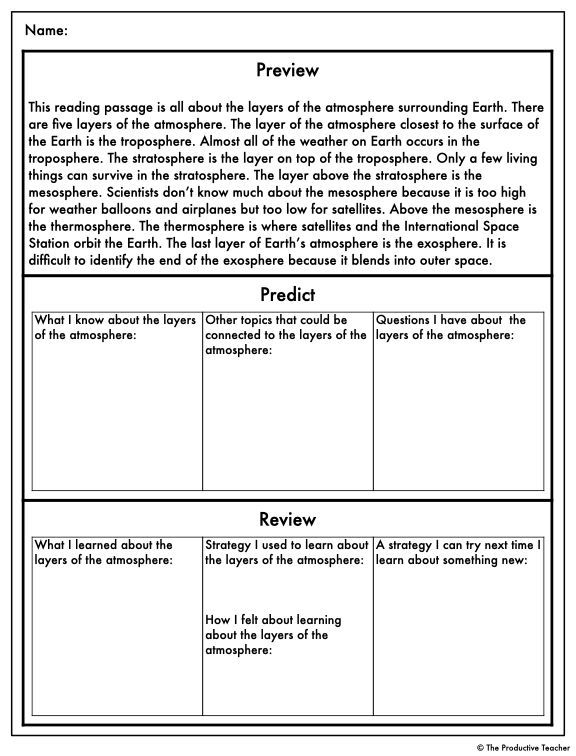 Layers Of The Atmosphere Reading Comprehension Passage Science Reading Passages Reading Passages Science Reading Layers of the atmosphere worksheet