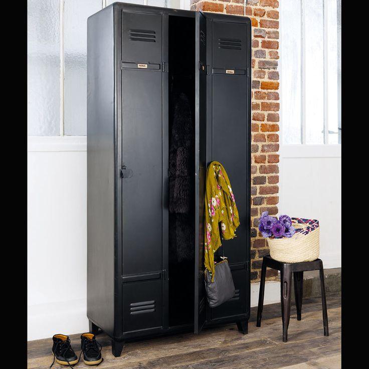 Luxury Kleiderschrank aus Metall B cm schwarz Edison Maisons du Monde