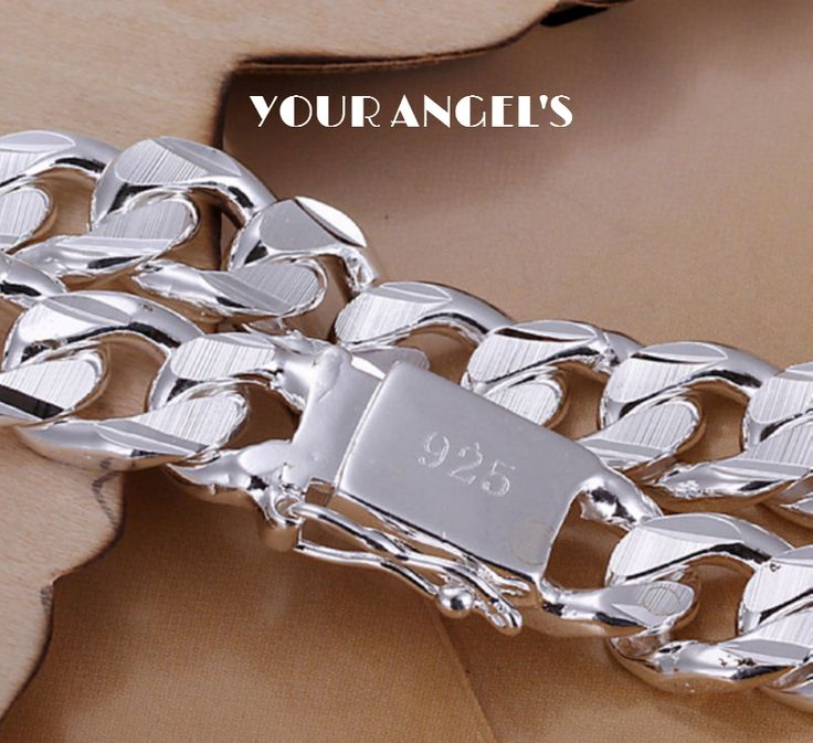 Be special: 925 Sterling Silver 8MM Chain Bracelets Fashion Wo...