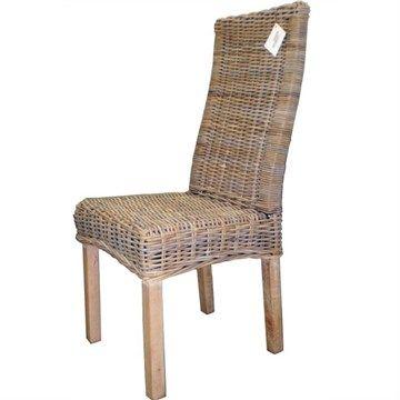 Roma Kubu Rattan Chair with White Wash Legs $119
