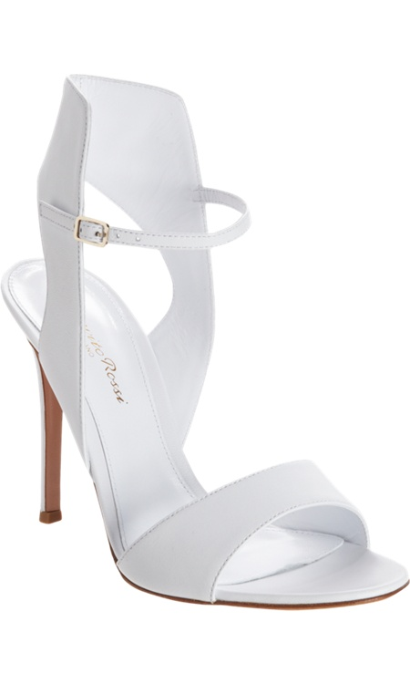 Gianvito Rossi Posted Ankle Strap Sandal - finally a flattering white shoe!