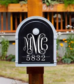 Mailbox Decal  Personalized Mailbox Decal  by MMVinylCreations