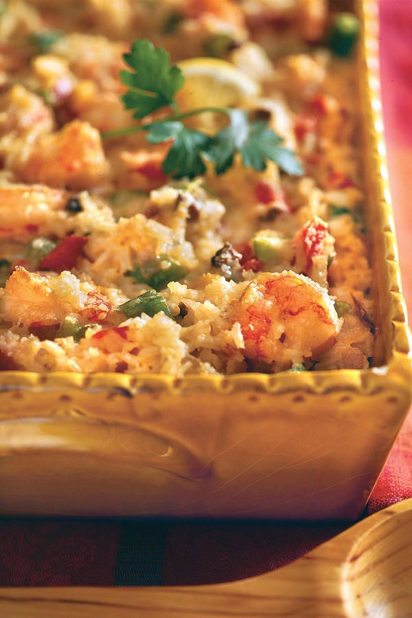 We offer make-ahead and freezing instructions on this luscious Cajun Shrimp Casserole. Serve with spring mix lettuce drizzled with red wine vinaigrette. Recipe: Cajun Shrimp Casserole
