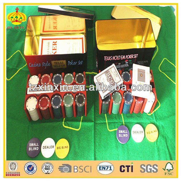 2016 cheap custom poker chips and poker set for gambling and domino poker chips set