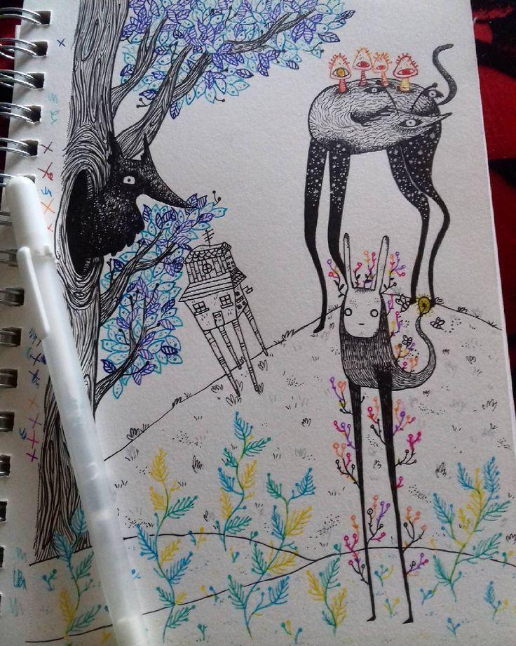 "5 Me gusta, 1 comentarios - Ñaña (@ferniska) en Instagram: ""me gustó ♡ #draw #drawgram #doodle #dibujo #dessin #boceto #sketch #sketchbook #moleskine #art…"""