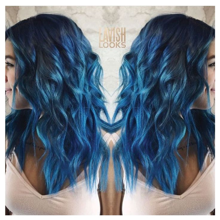 @my_lavish_looks on Instagram used Color Intensity Cobalt Blue, Sapphire Blue and Titanium to create this blue we're crushing on.