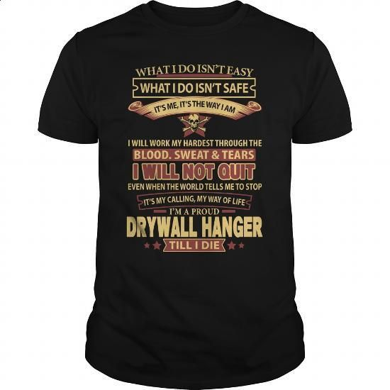 DRYWALL-HANGER - #polo #design shirts. GET YOURS => https://www.sunfrog.com/LifeStyle/DRYWALL-HANGER-143982914-Black-Guys.html?60505