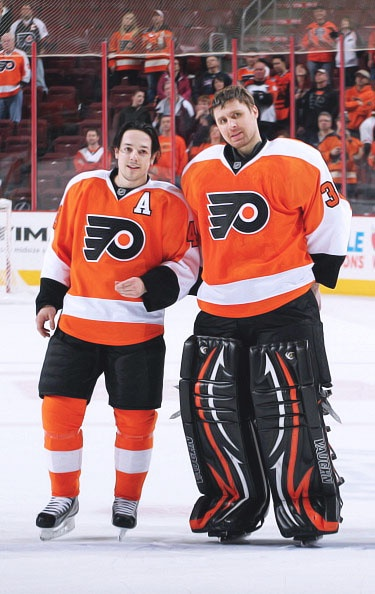 Danny Briere and Ilya Bryzgalov, the two that have the buy-out rumors right now. Would absolutely hate to see either one leave Philly