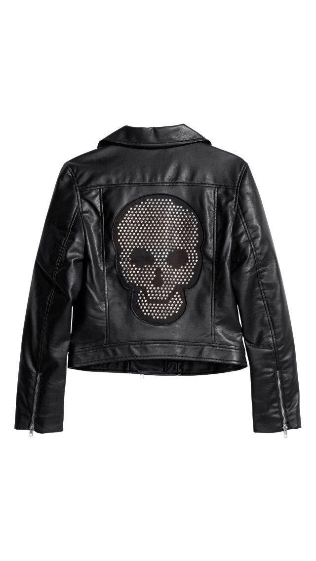Hot Sale! 2014 Fashion Ladies winter motorcycle fur & leather jacket Backs Skull Studded Sequin brand jaqueta couro women coat