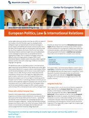 European Politics, Law & International Relations
